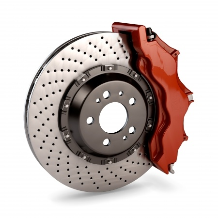 Brake caliper and rotor