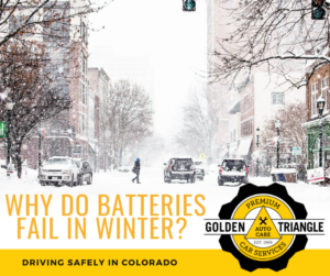 Why Car Batteries Fail in Winter - Snowy Downtown Denver Street with Cars