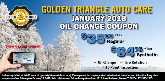 January 2018 Oil Change Coupon