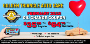 February 2018 Oil Change Coupon