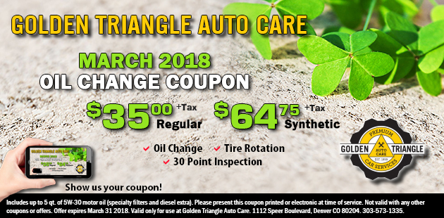 March 2018 Oil Change Coupon