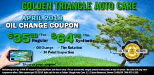Oil Change Coupon April 2018
