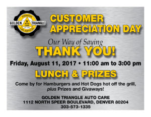 Customer Appreciation Day August 11 2017