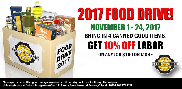 November 2017 Food Drive