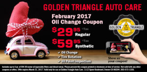 February 2017 Oil Chainge Coupon