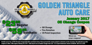 Oil Change Coupon January 2017