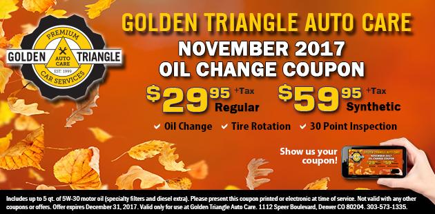 November Oil Change Coupon