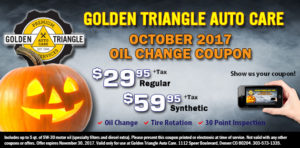 October Oil Change Coupon