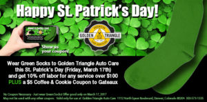 St Patricks Day Green Sock Coupon Deal