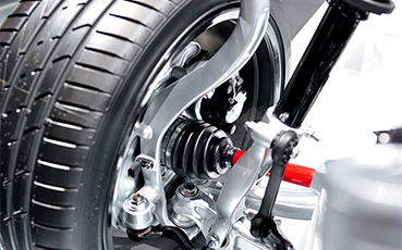 Car steering and suspension