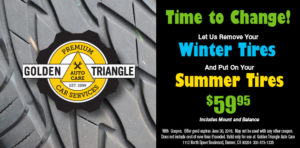 Tire Change Coupon 2016