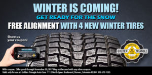 Free Alignment with 4 New Winter Tires