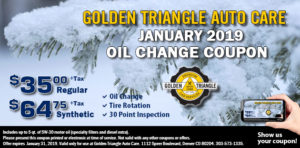 January 2019 Oil Change Coupon