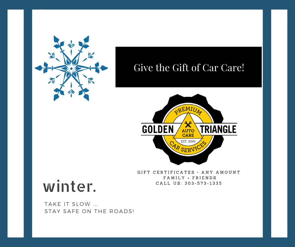 Winter Take It Slow Stay Safe on the Roads Car Care Gift Certificate