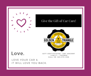 Car Care Gift Certificate February 2019