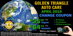 April 2019 Oil Change Coupon