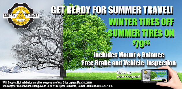 Replace Winter Tires with Summer Tires for $79.95