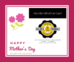 Mother's Day Car Care Gift Certificate