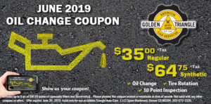 Oil Change Coupon June 2019
