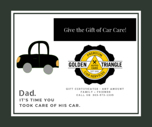 Gift Certificates for Father's Day 2019