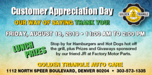 Customer Appreciation BBQ Aug 16, 2019 11-2pm