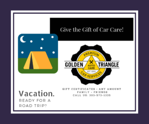 Car Care Gift Certificates from Golden Triangle Auto Care