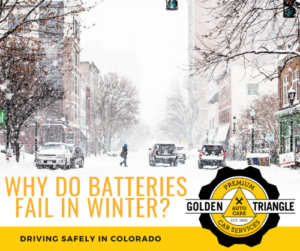Why Do Car Batteries Fail in Winter - Snowy Downtown Denver Street with parked cars
