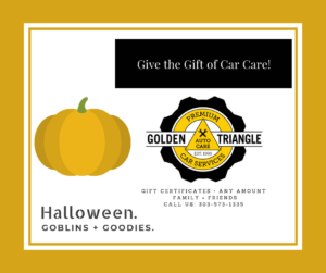 Car Care Gift Certificates Available - Halloween Theme