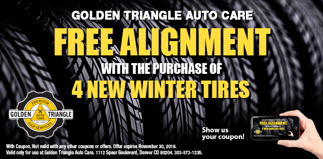 Free Alignment with purchase of 4 new winter tires good through Nov 30 2019