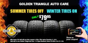 Summer Tires Off/Winter Tires On $79.95 thru Dec 31, 2019