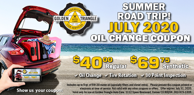 Oil Change Coupon expires 7-30-20