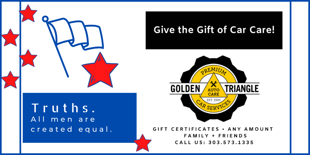 Car Care Gift Certificates available at Golden Triangle Auto Care