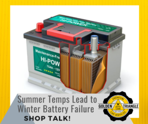 Summer Temps Lead to Winter Battery Failure Shop Talk Cross Section of Car Battery