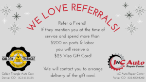 We Love Referrals - Earn a $25 Visa Gift Card