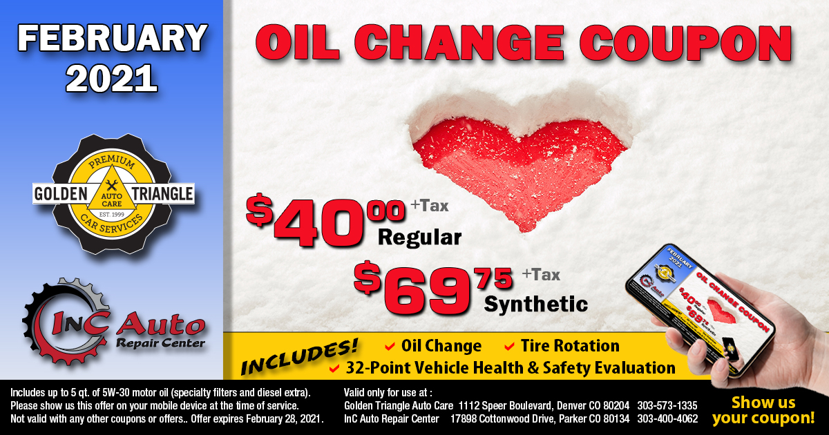 Oil Change Coupon February 2021