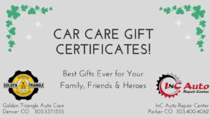 Car Care Gift Certifictes at Golden Triangle Auto Care