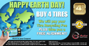 Buy 4 Tires, Get Free Alignment & Old Tire Recycling from Golden Triangle Auto Care