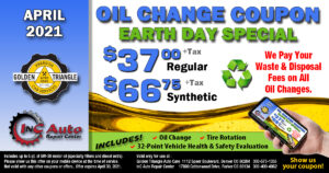 Downtown Denver Oil Change Deal for Earth Day 2021