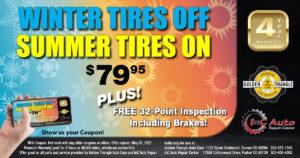 Denver CO Winter Tires Off Summer Tires On Deal valid thru May 31 2021