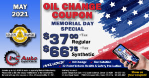 Denver CO Oil Change Coupon valid thru May 31, 2021