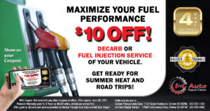 $10 Off Decarb or Fuel Injection Service at Golden Triangle Auto Care value thru 6-30-21