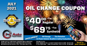 Oil Change Deal $40+tax regular or $69.75+tax synthetic up to 5 quarts at Golden Triangle Auto Care Denver CO valid thru 7/31/21