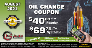 Downtown Denver Oil Change Deal $40+tax regular or $69.75+tax synthetic up to 5 qts of oil valid thru 8-30-21
